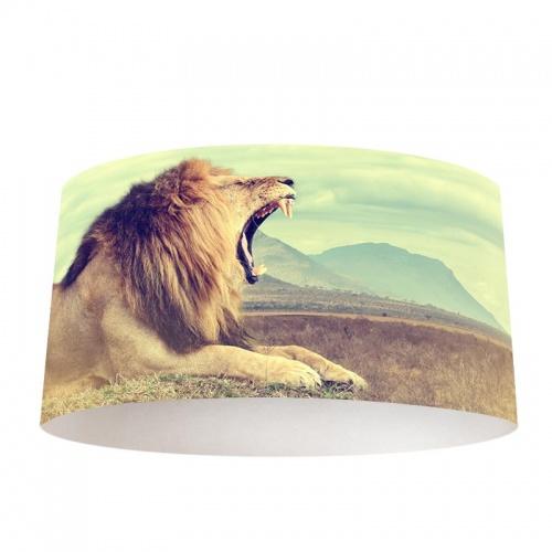 lampenkap Gapende leeuw