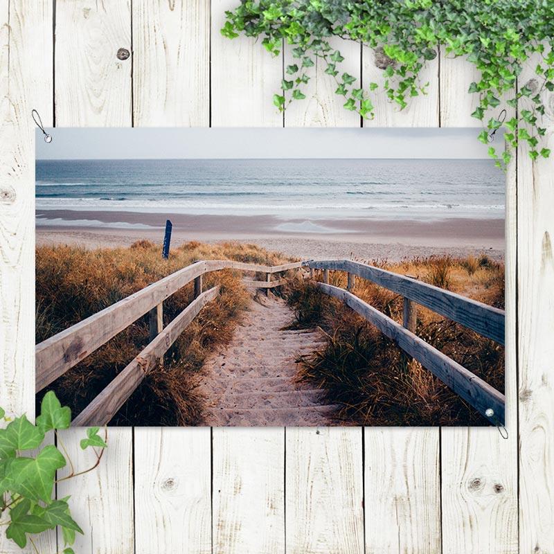 Tuinposter Naar het strand