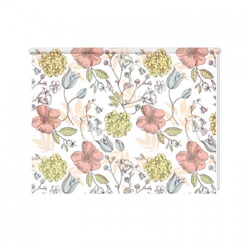 Rolgordijn bloemen patroonRolgordijn bloemen patroon