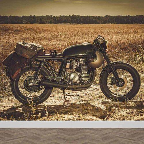 Fotobehang Vintage motor