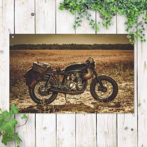 Tuinposter Vintage motor