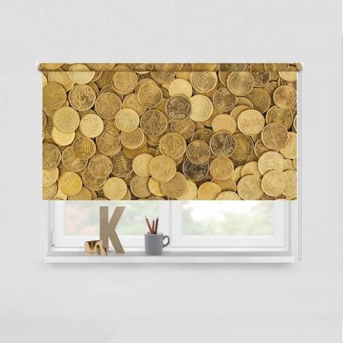 Rolgordijn Geld