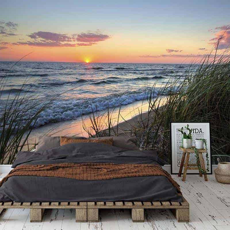 Fotobehang Zonsondergang aan zee
