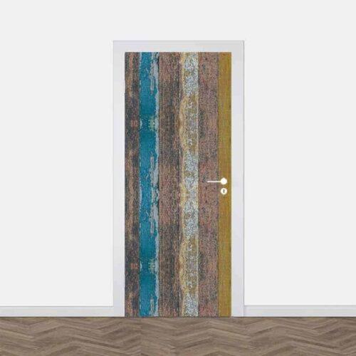 Deursticker Gekleurd steigerhout