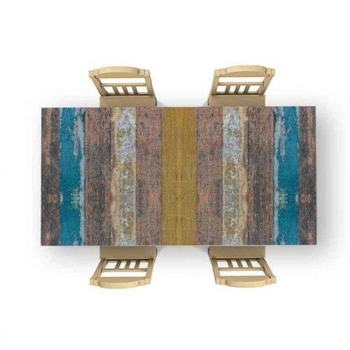 Tafelsticker Gekleurd steiger hout 2
