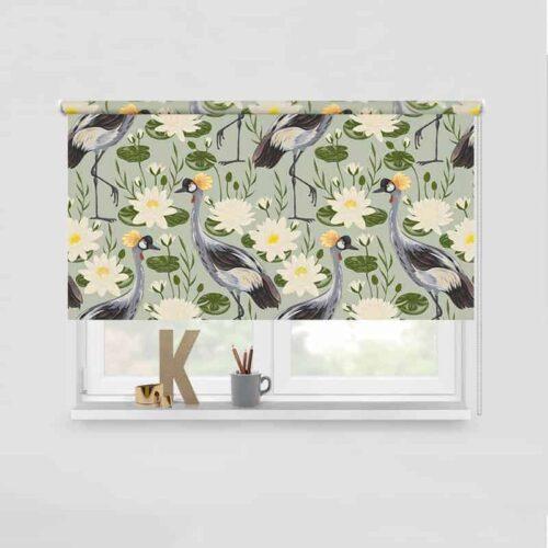 Rolgordijn Kraanvogels