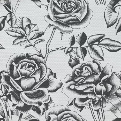Tafelkleed Getekende rozen patroon