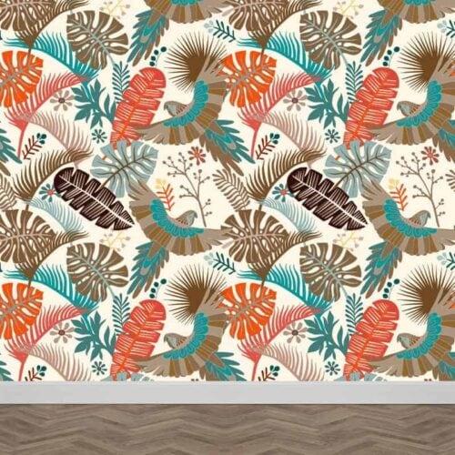 fotobehang tropisch patroon