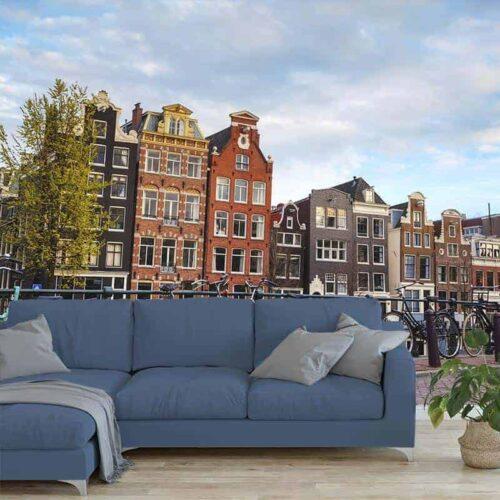 Fotobehang Amsterdams stadsgezicht