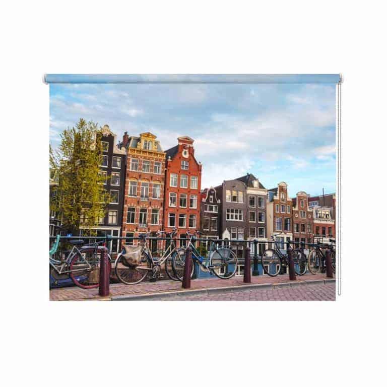 Rolgordijn Amsterdams stadsgezicht