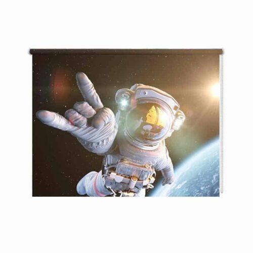 Rolgordijn Astronaut selfie