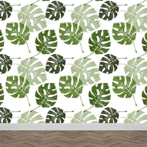Fotobehang tropische bladeren patroon 1