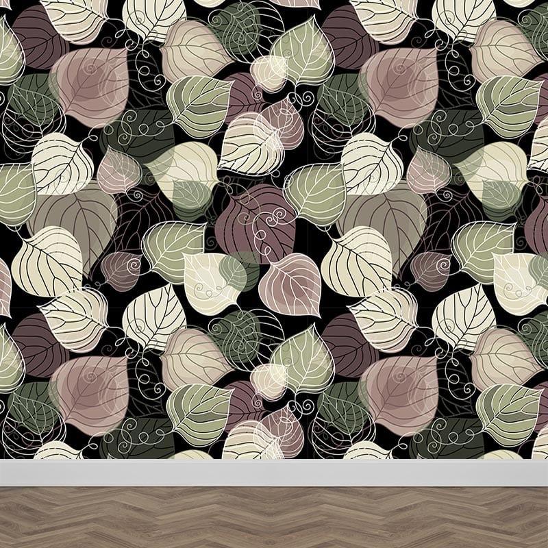Fotobehang Bladeren patroon 10