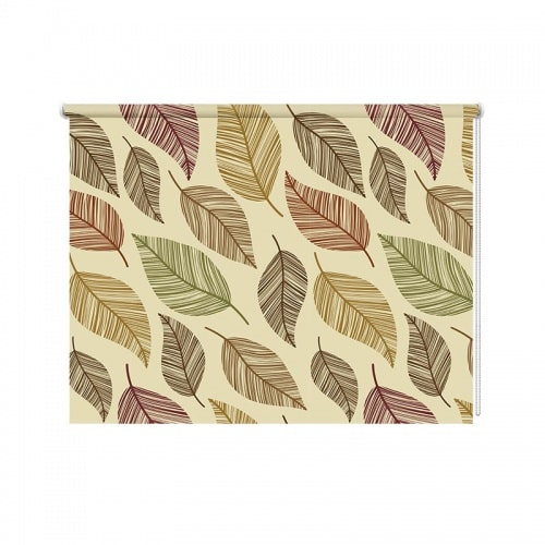 Rolgordijn bladeren patroon 17