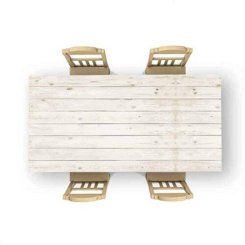 tafelsticker hout patroon licht 2