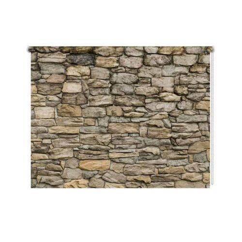 Rolgordijn gestapelde stenen