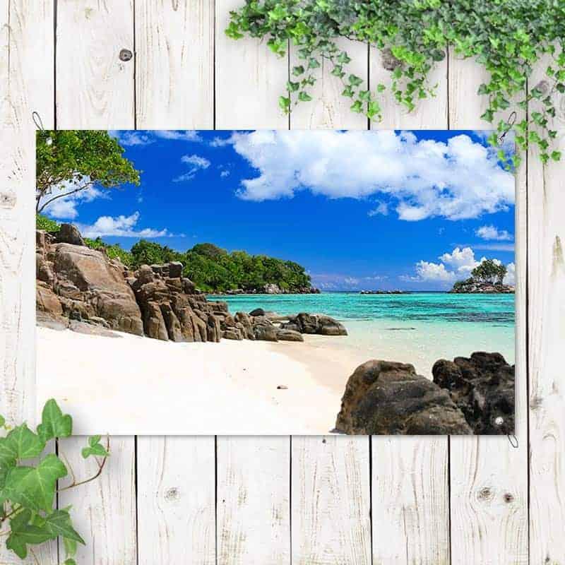 Tuinposter tropisch uitzicht
