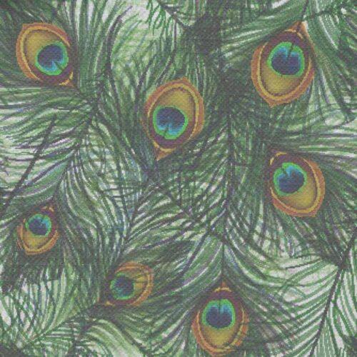 Tafelkleed Pauwenveren patroon