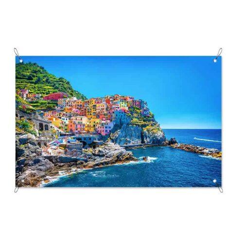 tuinposter Italiaans dorpje aan zee