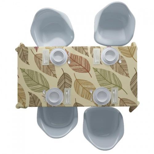 Tafelkleed bladeren patroon 17