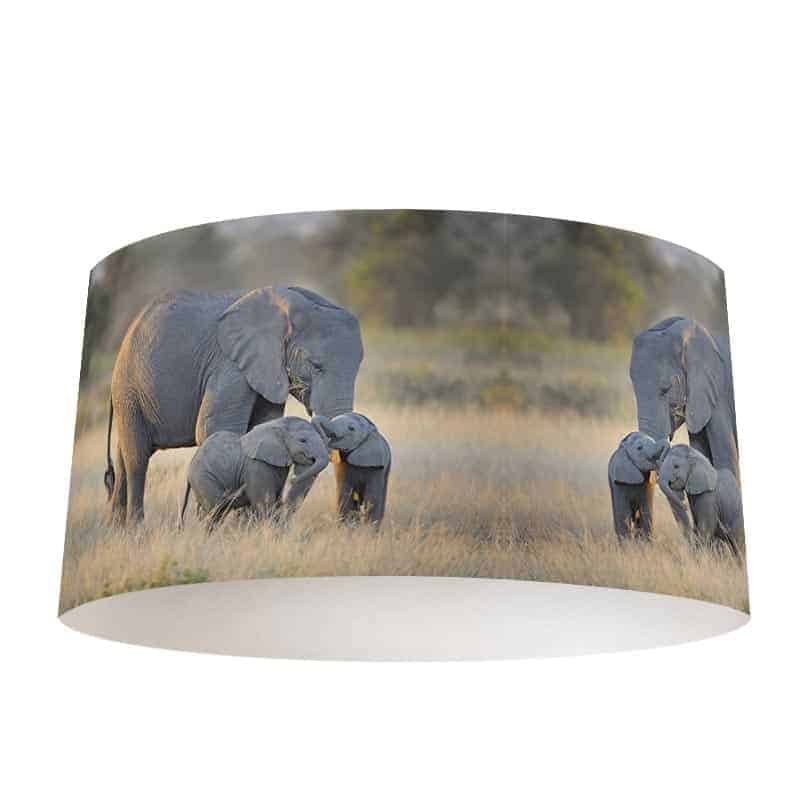 Lampenkap Olifanten familie