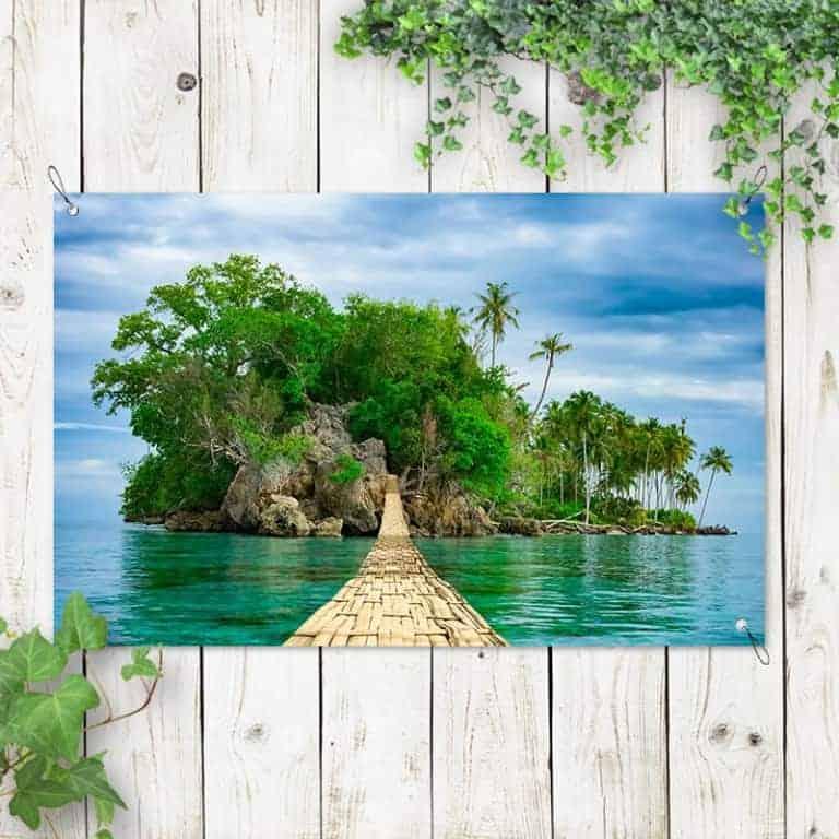 Tuinposter op een onbewoond eiland