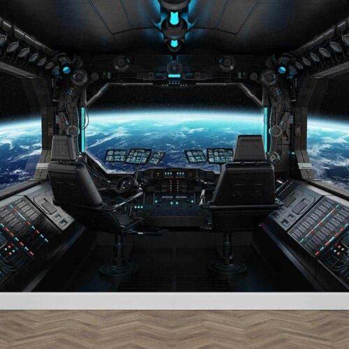 Fotobehang ruimteschip