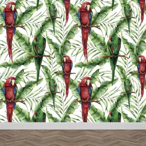 Fotobehang Papegaaien patroon 2