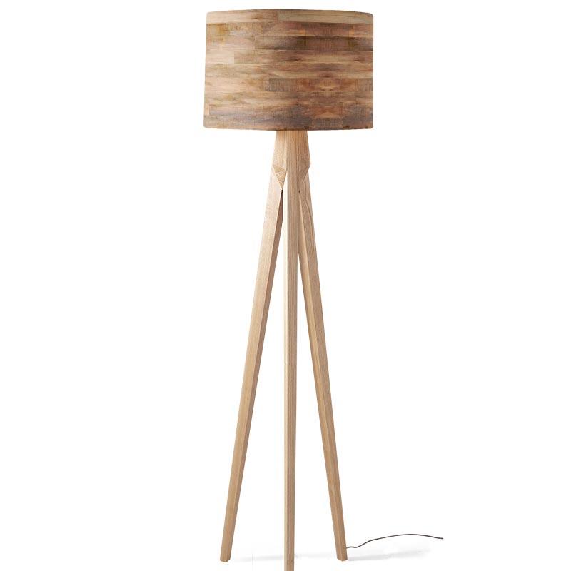 Lampenkap Houten planken patroon 4