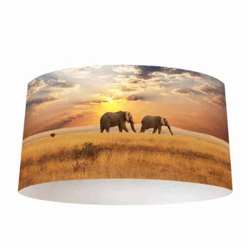 Lampenkap Olifanten aan de wandel