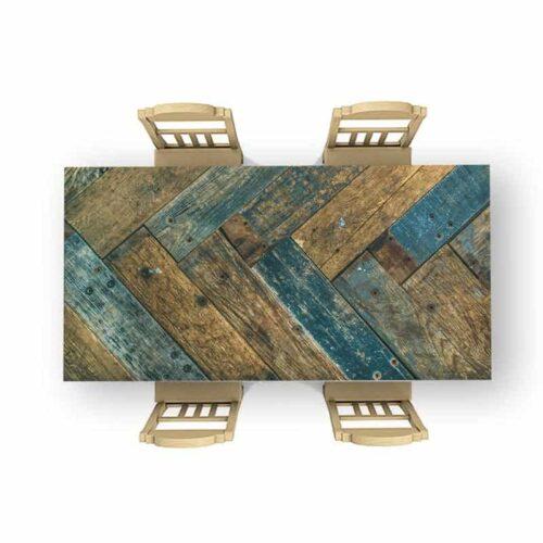 Tafelsticker Gekleurd hout patroon 2