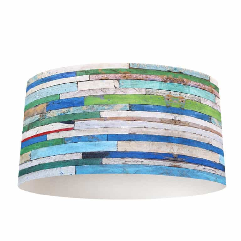 Lampenkap Gekleurd hout patroon 3