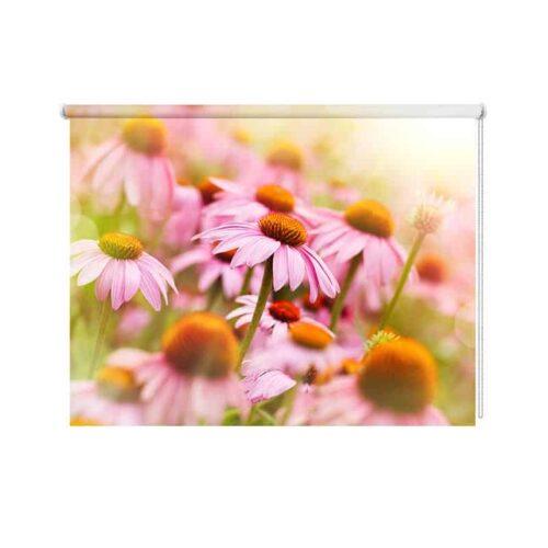 Rolgordijn Vintage roze zonnehoed