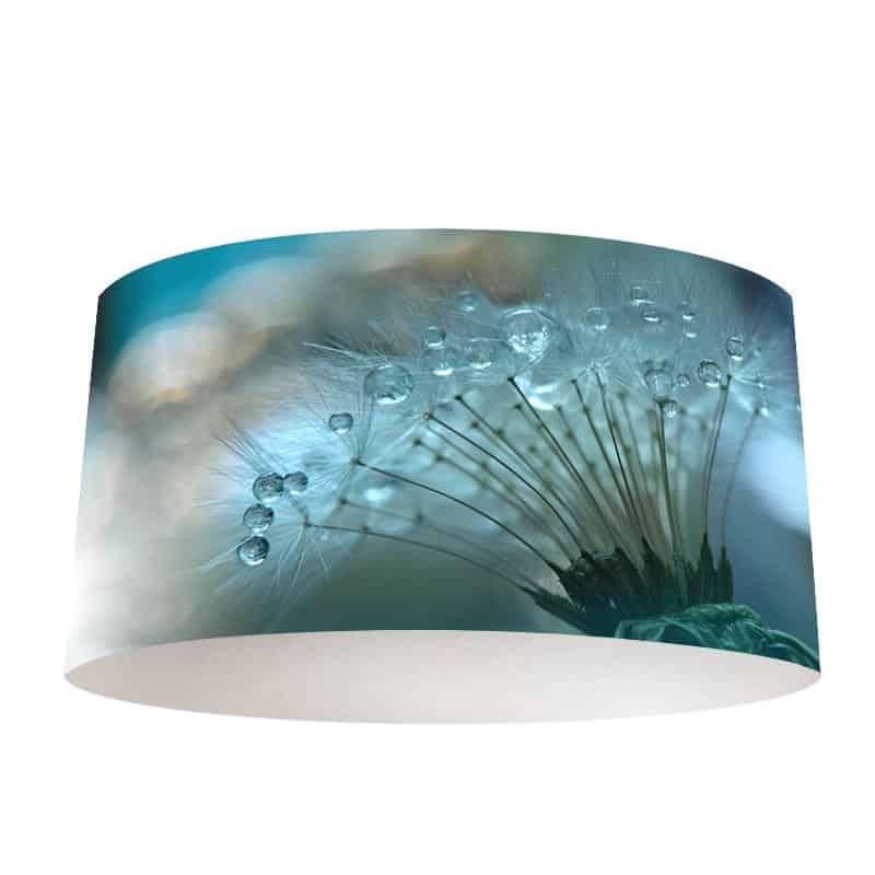 Lampenkap Dandelion met waterdruppels