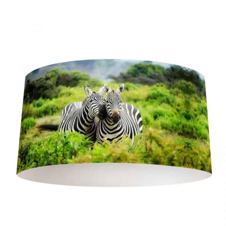Lampenkap Knuffelende zebra's