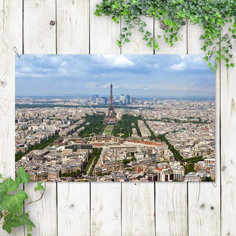 Tuinposter Parijs skyline