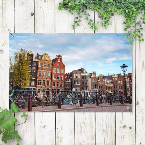 Tuinposter Amsterdams stadsgezicht