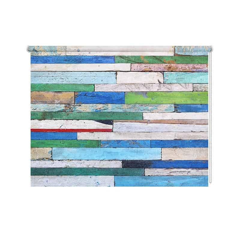 Rolgordijn Gekleurd hout patroon 3