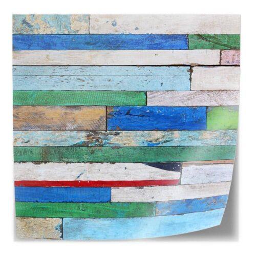 Tafelsticker Gekleurd hout patroon 3