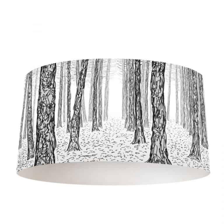Lampenkap Geschetste bomen