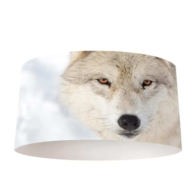 Lampenkap Wolf close up
