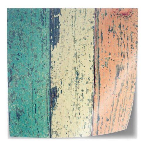 Tafelsticker Gekleurde planken