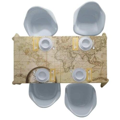 Tafelkleed Oude wereldkaart