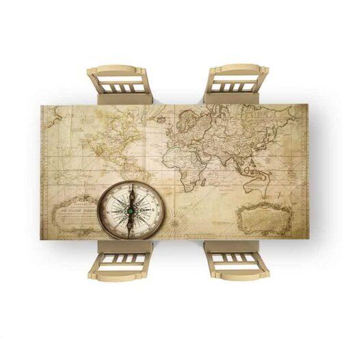 Tafelsticker Oude wereldkaart