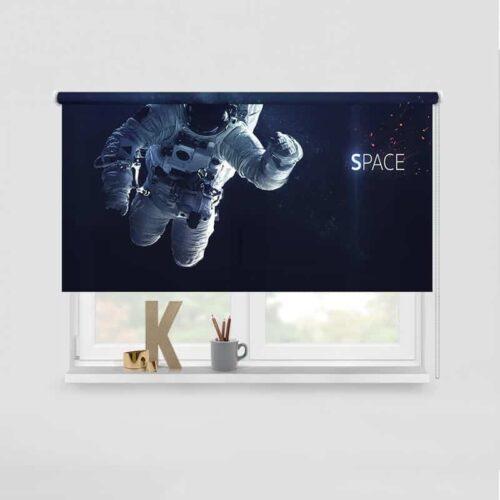Rolgordijn Astronaut in de ruimte