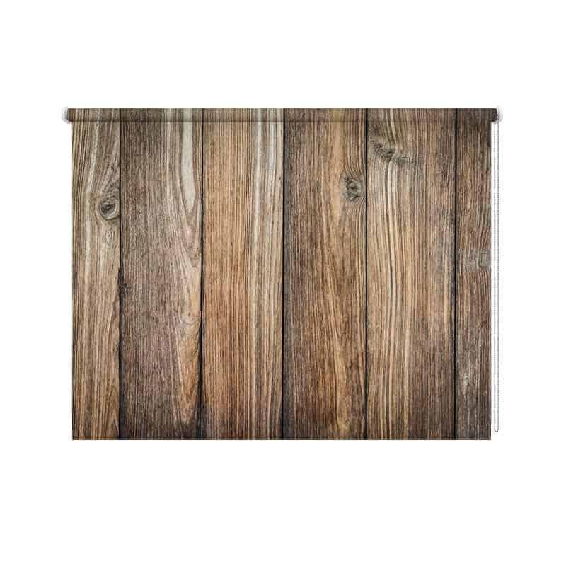 Planken Op Maat Bestellen.Rolgordijn Bruine Planken Gratis Voor Jou Op Maat Gemaakt Youpri Nl