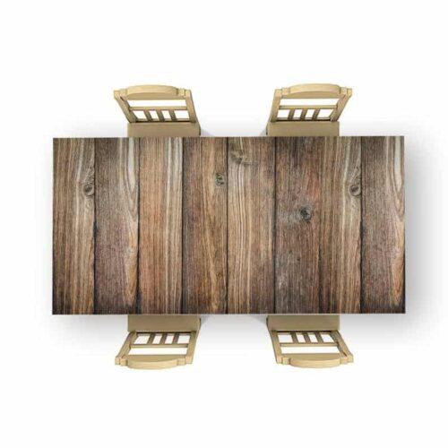 Tafelsticker Bruine planken