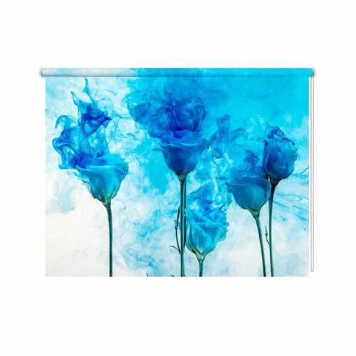 Rolgordijn Artistieke bloemen