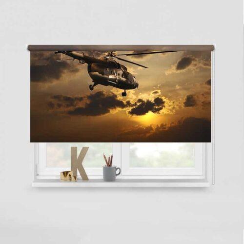 Rolgordijn Helikopter