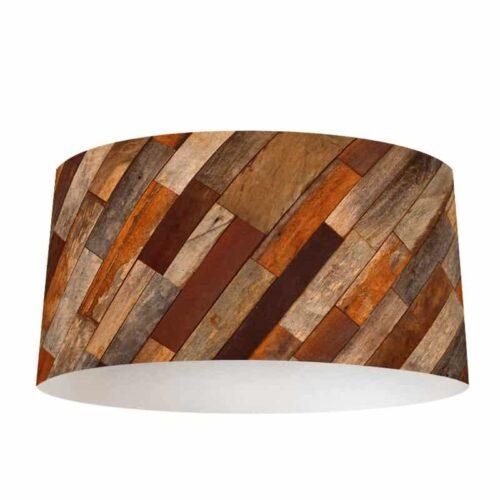 Lampenkap antiek hout patroon